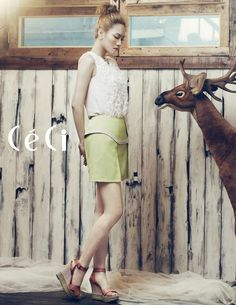 Fei, from South Korean girl group Miss A, for CeCi magazine.    CeCi April 2012