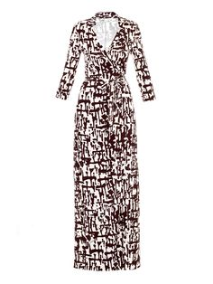 Diane Von Furstenberg Maxi Dress.  Live me some DVF!  Queen of the wrap dress!