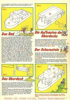 Bastelbogen: Fix und Foxi Dampfer – Kaukapedia