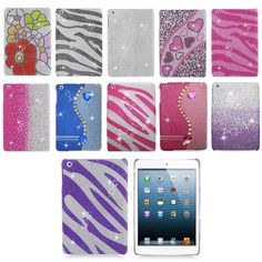 For Apple iPad Mini Full Diamond Bling Rhinestone Hard Case Cover Accessory | eBay