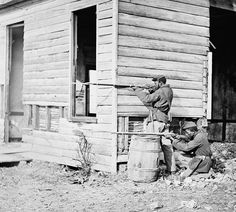 A picket station of black troops near Dutch Gap Canal in Virginia November 1864