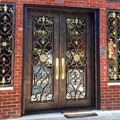 It's #ManhattanMonday! Here's our Victorian Style to start your week off right.#manhattanirondoors #irondoors #metaldoors #newyork #nyc #manhattan #luxury #custom #entryway #design #architecture #houzz #pinterest #customdesign