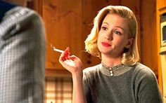 Betty Draper's parenting isn't even close to as bad as the shit we overhear in the office. Join us! Betty Draper, Mad Men Characters, Boring People, Mad Women, January Jones, Mad Men Fashion, Smoking Ladies, Desperate Housewives, Vintage Girls