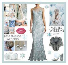 """Winter Wedding"" by belladonnasjoy ❤ liked on Polyvore featuring Catherine Deane, Oscar de la Renta, Vera Wang, Lime Crime and winterwedding"