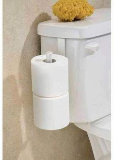 InterDesign Classico Toilet Paper Holder for Bathroom Storage, Over the Tank, Pearl White - Walmart. Small Bathroom Storage, Bathroom Organization, Bathroom Spa, Master Bathroom, Bathroom Ideas, Shower Ideas, Guys Bathroom, Parisian Bathroom, Bathroom Hacks