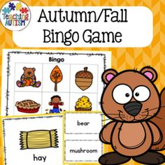 This activity is great to take part with small or large groups. All themes are linked to the theme of Autumn / Fall. This comes with image bingo cards, image and word flash cards as well as small word/image cards and just word cards.The second page of the PDF contains instructions on different ways you can use this bingo resource in your classroom.10 different boards in total - up to 10 players during one game.