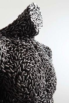 Anguish 1, Iron Chain, 50x40x170 cm 2011,