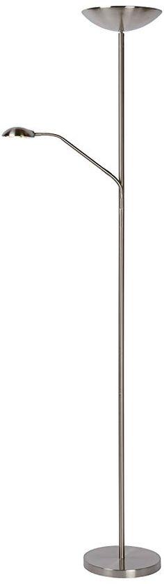 1,70 m LED Stehleuchte Stehlampe Leuchte E27 Silber Höhe ca