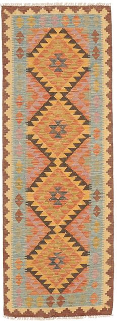 Kilim Afghan Old style 2′x6′3″