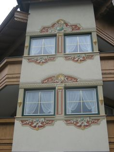 Lüftlmalerei Faux Painting Techniques, Case, House Painting, Wall Murals, Windows, Storage, Interior, Design, Home Decor