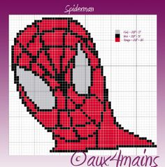 Spiderman  hama beads pattern by aux4mains
