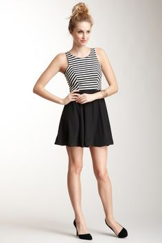Sleeveless Stripe Top Dress
