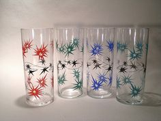 Star design tall glasses by the retro co, via Flickr