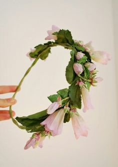 f78a48a75db Beautiful Floral Crown ❤ Floral Garland