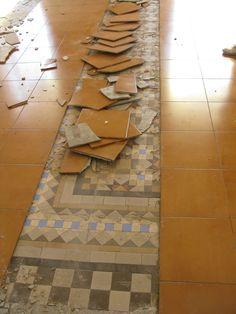 descubriendo el mosaico de Nolla original Encaustic Tile, Tile Floor, Tiles, Sweet Home, Flooring, Living Room, The Originals, Valencia, Horror