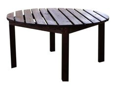 Special Offers   Shine Company Round Chat Table 38 Inch Burnt Brown   In  Stock