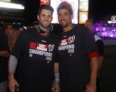 Washington Nationals Bryce Harper and Ian Desmond