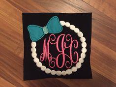 Pearl Monogram Embroidery File