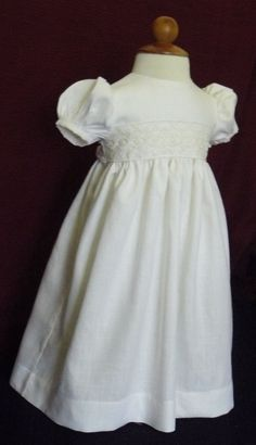 Linen Christening blessing gown by AnnaBouche on Etsy, $75.95