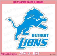 Detroit Lions Logo, Detroit Lions Football, Nfl Football Teams, Silhouette Cutter, Silhouette Clip Art, Silhouette Projects, Silhouette Files, Cricut, Diy Pop Socket