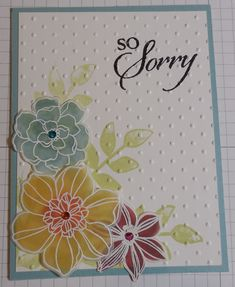 Another take on Andi's card. I did a video and will post it on my blog how to make those flowers at
