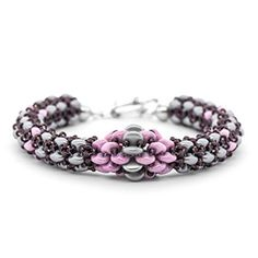 CHAINON Bracelet with SuperDuos | Fusion Beads Inspiration Gallery - FREE TUTORIAL