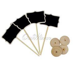 24 Pçs/lote Mini Madeira Blackboard quadro Titular do Cartão Número Da Tabela para a Decoração Do Casamento Do Partido Do Evento Fornece Por Atacado