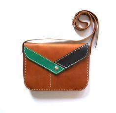 Bolso cu cuero tapa sobre de Lanhe por DaWanda.com