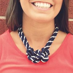 Knot your Average Necklace?! And it has an anchor clasp?! How adorable!