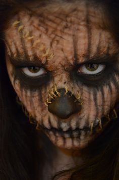 Scarecrow Special effects makeup for halloween Check out the rest of my work: https://www.behance.net/gallery/Special-Effects-Makeup/11391217