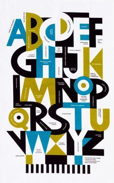 love the use of counter form maria-dahlgren_alphabet_teatowel. Lettering Design, Hand Lettering, Typography Inspiration, Design Inspiration, Retro Font, Thing 1, Typography Letters, Type Design, Graphic Design Illustration
