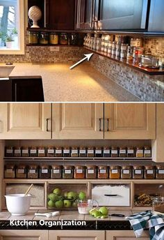 Supreme Kitchen Remodeling Choosing Your New Kitchen Countertops Ideas. Mind Blowing Kitchen Remodeling Choosing Your New Kitchen Countertops Ideas. Kitchen Redo, Kitchen Dining, Kitchen Small, Kitchen Pantry, Ranch Kitchen, Kitchen Spice Storage, Kitchen Hacks, Small Kitchen Ideas On A Budget, Kitchen Shelves