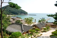A beautiful community on the Southern coast of South Korea. Lots of fun small beaches--better for camping, BBQing and exploring than sunbathing (beaches are a little rocky). Amazing seafood all over. Oh The Places You'll Go, Great Places, Places To Visit, South Korea Travel, Asia Travel, Beautiful Islands, Beautiful Beaches, Seoul Attractions, Seaside Village