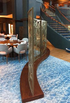 Laser cut screens - Fairmont St Andrews - the 'Home of Golf' -  Scotland. Freestanding screens by Miles and Lincoln. www.milesandlincoln.com