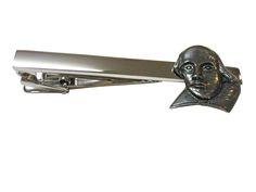 Shakespeare Figure Square Tie Clip