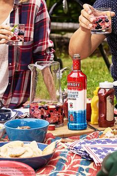 Smirnoff Red White and Berry Vodka Mojitos  Named Best Spirit of 2017 by Product of the Year, Smirnoff Red White and Berry Vodka is back for July 4th! And here's a Smirnoff Vodka Mojito recipe that's perfect for your #IndependenceDay celebration. Pick up a bottle while supplies last.  RECIPE:  1.5oz SMIRNOFF RED WHITE + BERRY 3oz SODA WATER 1oz LIME JUICE MINT, BLUEBERRY, STRAWBERRY GARNISH