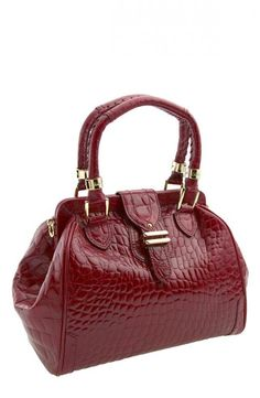 Cole Haan Lilly Croc Cherry Red Bag, $375