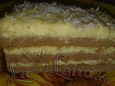 prajitura biscuiti cu crema fiarta | Crema de vanilie sau crema de galbenusuri cu lapte,sau crema fiarta ...