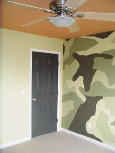 Painted Black + White: Camouflage Wall Mural