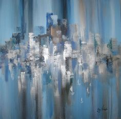 Blue Water Modern Houses, Contemporary Interior, Owl, New York, Paintings, Classic, Water, Artwork, Blue