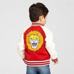 Toddler Boys' Lion Bomber Jacket - Genuine Kids from OshKosh Red Oak Opaque 4T
