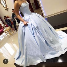 Charming Prom Dress,Long Prom Dresses,Ball Gown Prom Dress,Light Blue Formal Party Gown, Formal Evening Dress