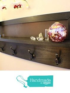 You Pick the Stain 4 Hook Wall Mounted Coat Rack with Shelf, Wall Organizer and Shelf from The Knotty Shelf https://smile.amazon.com/dp/B01A7E5COC/ref=hnd_sw_r_pi_dp_lcNbzbZAQ9SQX #handmadeatamazon