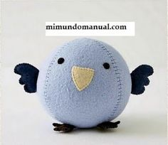 DIY Cute Felt Bird - FREE Sewing Pattern / Template