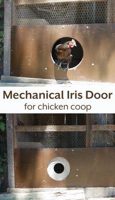 DIY Mechanical Iris Door for the Chicken Coop using Arduino