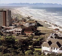The beach at Muizenberg from Boyes Drive circa 1978