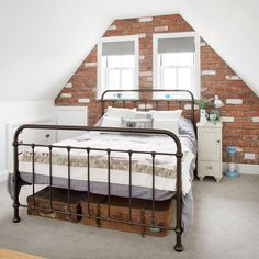 Looking for ideas for a loft conversion? Take a look at our great attic renovation ideas, from bedroom loft conversions to bathroom loft conversions Dream Spaces, Loft Conversion, Bedroom Design, Bedroom Loft, Brick Wall Bedroom, Loft Room, Loft Spaces, Cool Kids Bedrooms, Dream Rooms