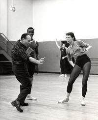 """George Balanchine creating """"Agon"""" pas de Deux"""