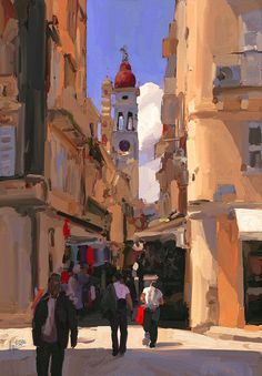 Shop for kerkyra art from the world's greatest living artists. All kerkyra artwork ships within 48 hours and includes a money-back guarantee. Choose your favorite kerkyra designs and purchase them as wall art, home decor, phone cases, tote bags, and more! English Artists, Australian Artists, Greek Paintings, Corfu Town, Corfu Greece, Boat Painting, Sketch Inspiration, Greek Art, Urban Sketching
