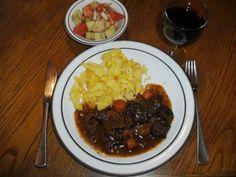 ausprobiertes Rezept  Fleisch: Rinderherz-Ragout mit Steinpilzen und Preiselbeeren